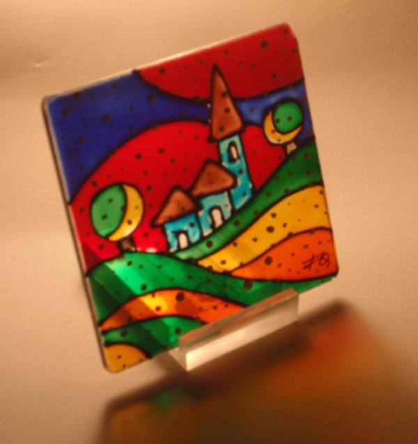 Pittura dipinti su tela su vetro grafica computer grafica for Quadri facili da dipingere